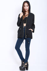Hooded Parka (Black) -  - 9
