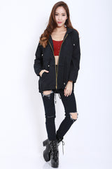 Hooded Parka (Black) -  - 3