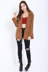 Hooded Parka (Camel) -  - 2