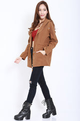 Hooded Parka (Camel) -  - 3