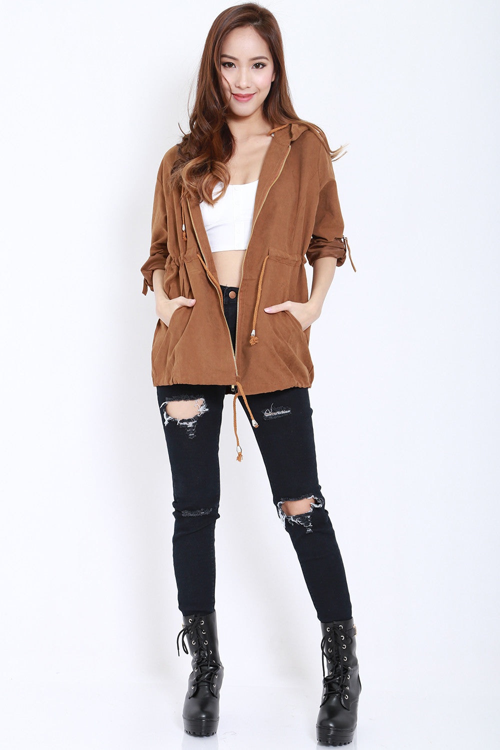Hooded Parka (Camel) -  - 6