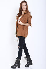 Hooded Parka (Camel) -  - 1