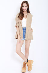 Hooded Parka (Khaki) -  - 2