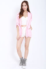 Hooded Parka (Pink) -  - 2