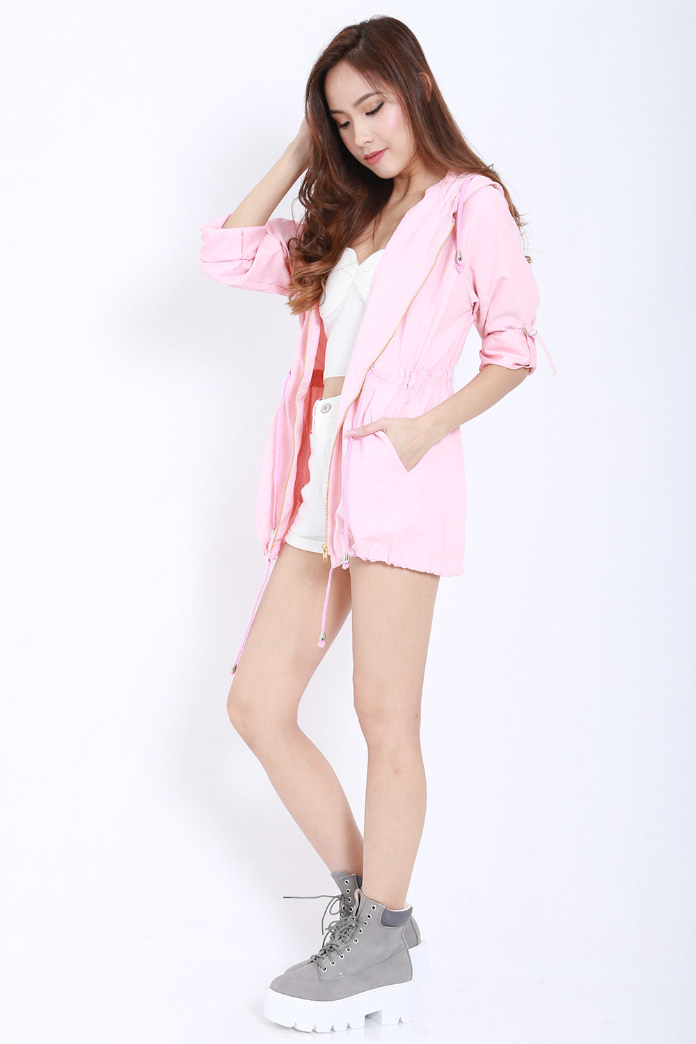 Hooded Parka (Pink) -  - 4
