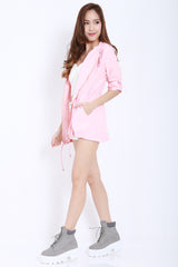 Hooded Parka (Pink) -  - 5