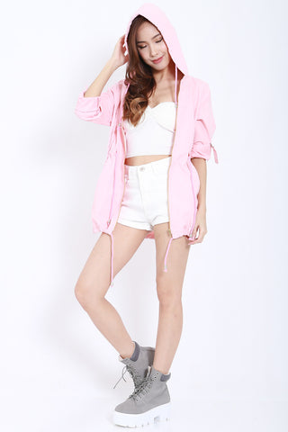 Hooded Parka (Pink) -  - 1