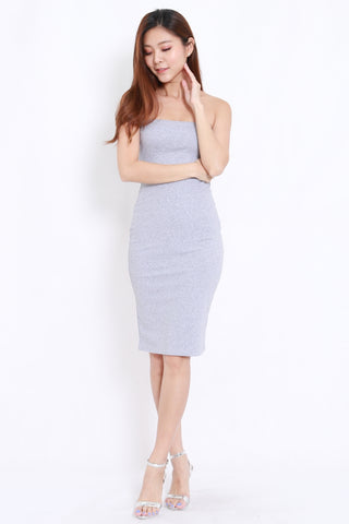 Basic Tube Midi Dress (Grey)