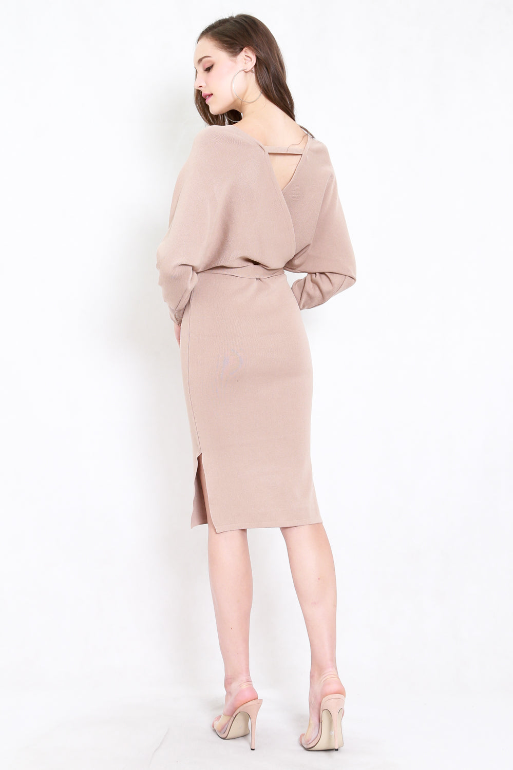 Wanda Knit Midi Dress (Nude)