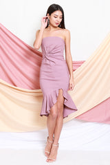 Twist Knot Mermaid Tube Dress (Lavender)