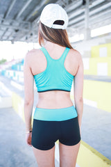 Xenon Zip Sports Bra (Mint) -  - 5