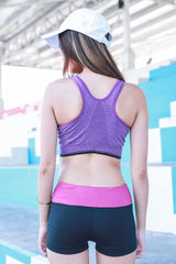 Xenon Zip Sports Bra (Purple) -  - 5