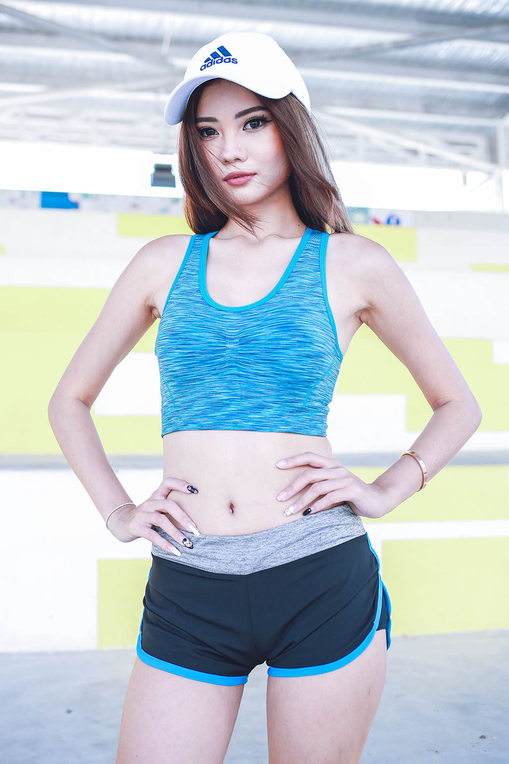 Niobrium Sports Bra (Blue) -  - 4