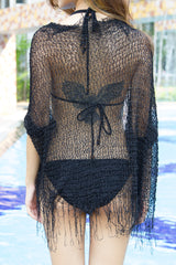 Knitted Shrug (Black) -  - 7