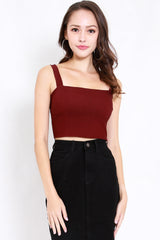 Carina Straight Top (Maroon)