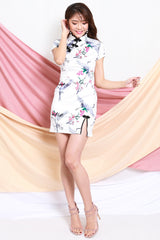 White Sparrow Slit Cheongsam Dress