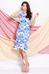 Porcelain Mermaid Cheongsam Dress