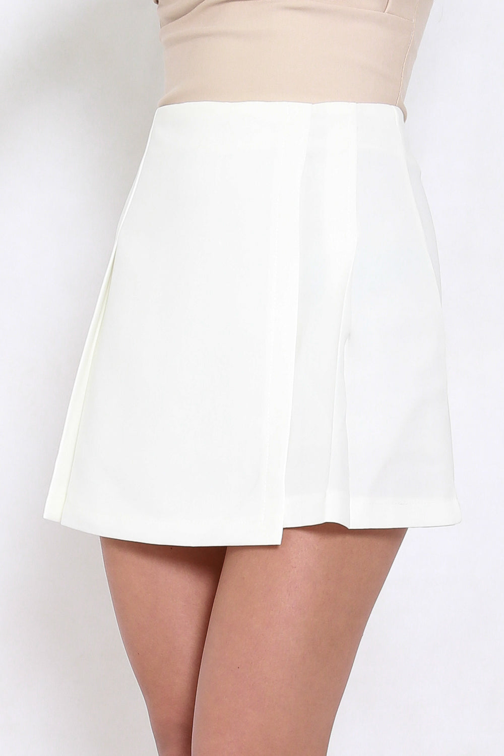 Vienna Flap Skirt (White)