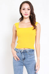 Renee Knit Top (Yellow)