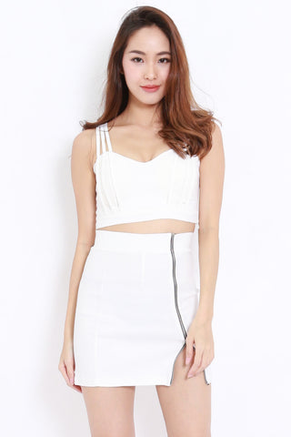 Strappy Crop Top (White)