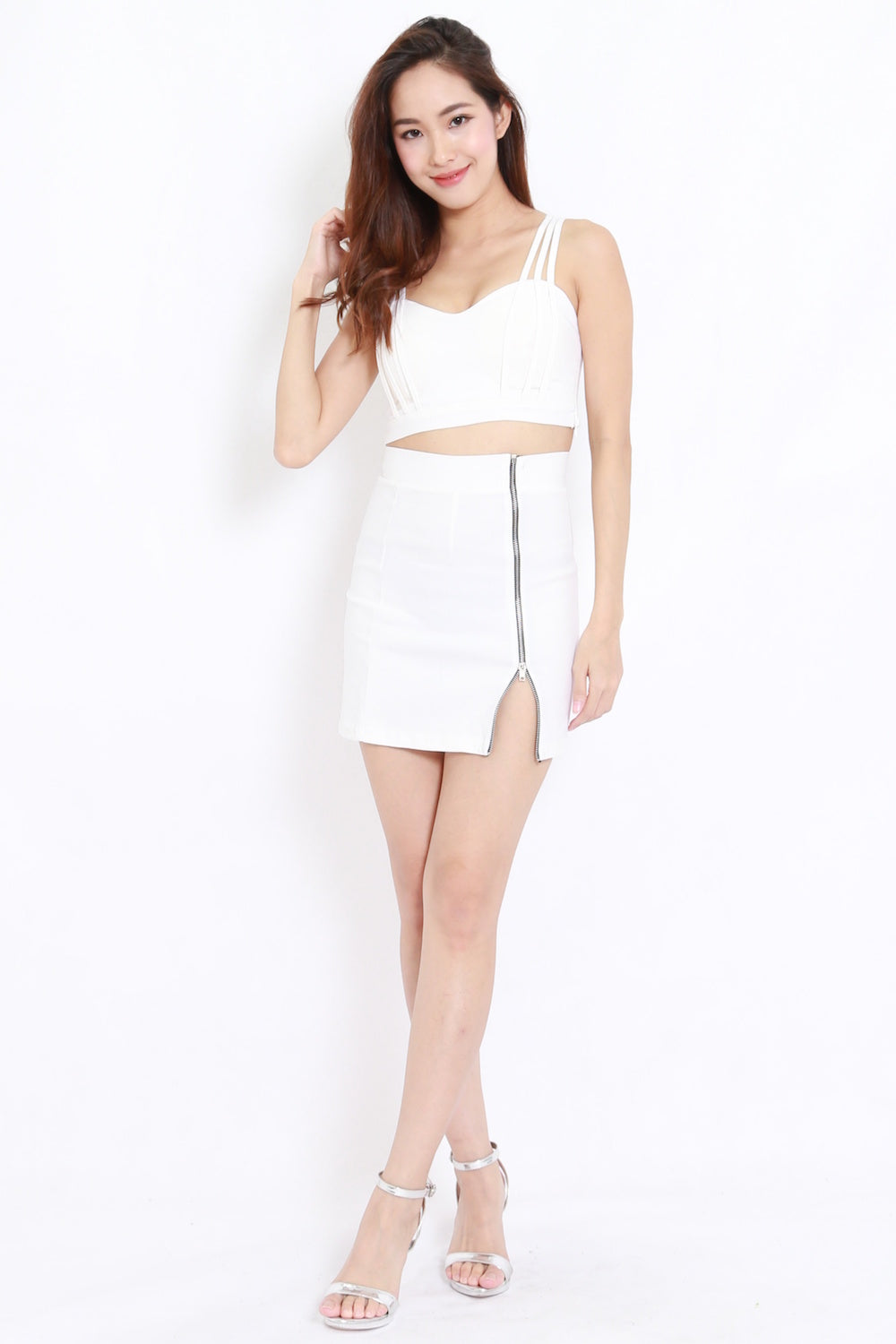 4a6167375fb8d Strappy Crop Top (White) – Carrislabelle