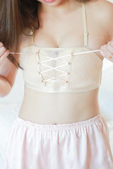 Push Up Lace Tube Bra (Nude)