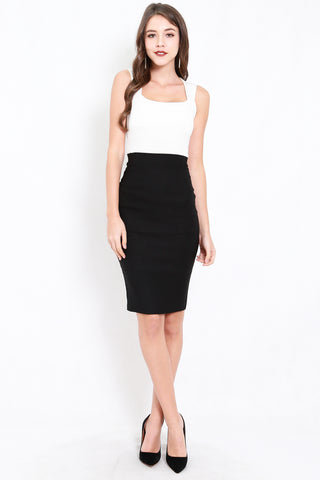 *Premium* Pencil Midi Skirt (Black)