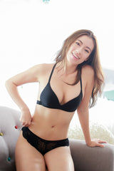 T Back Push Up Bra (Black)