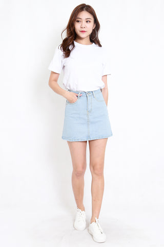 Basic Denim Skirt (Denim Blue)