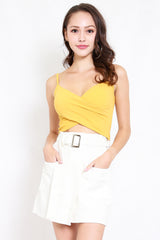 Cross Wrap Bralet (Yellow)