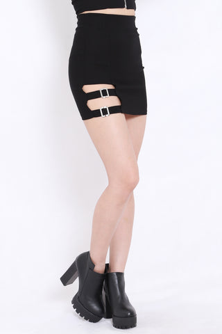 Side Buckle Skirt