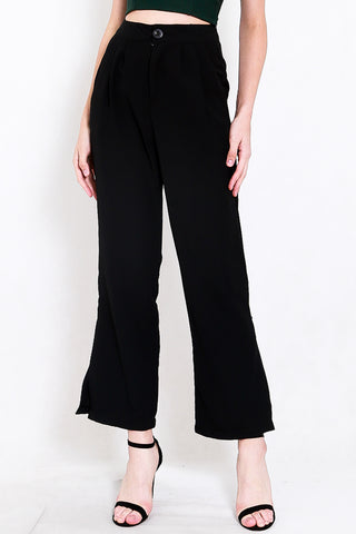 Reila Flowy Work Pants (Black)