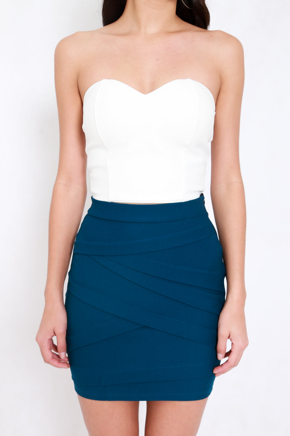 *Premium* Criss Cross Bandage Skirt (Teal)