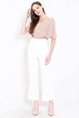 Reila Flowy Work Pants (White)