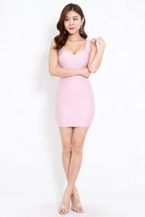 *Premium* Sweetheart Low Back Dress (Light Pink)