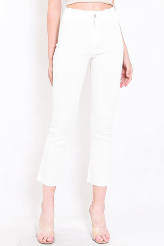 Perfect Frayed Edge Denim (White)