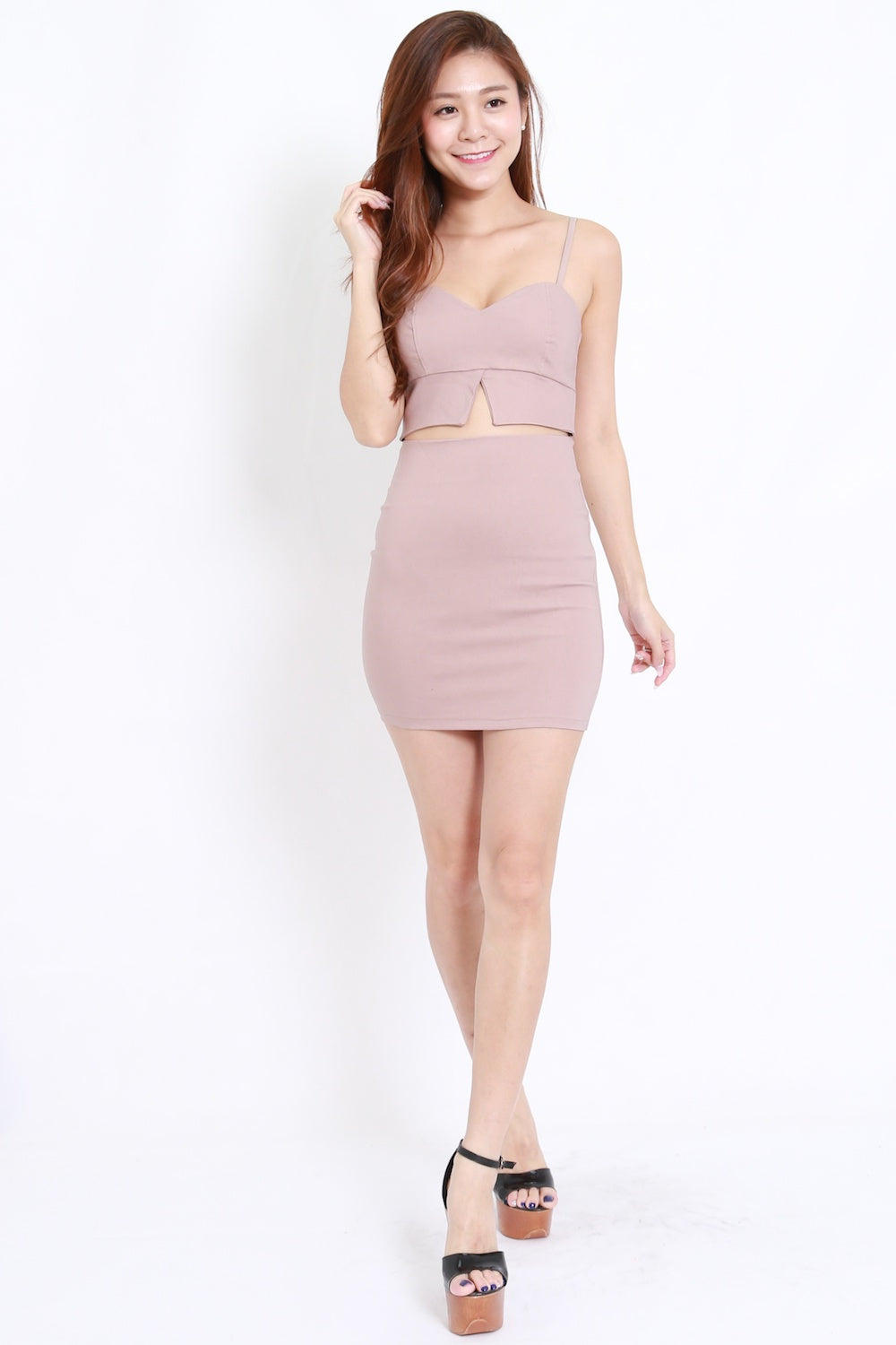 ae72e3c244 Cutout Bralet Spag Dress (Nude) – Carrislabelle