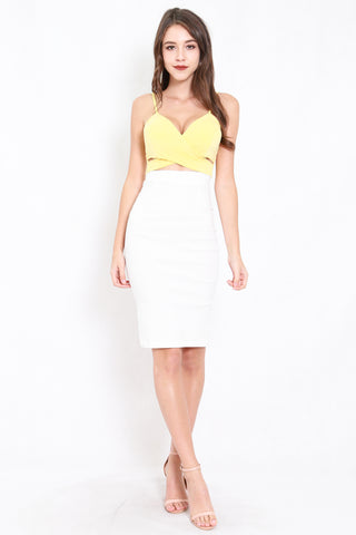 *Premium* Pencil Midi Skirt (White)