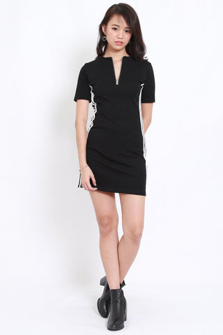 Outline Zipper Tee Dress