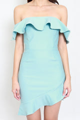 *Premium* Multiway Ruffle Dress (Tiffany Blue)