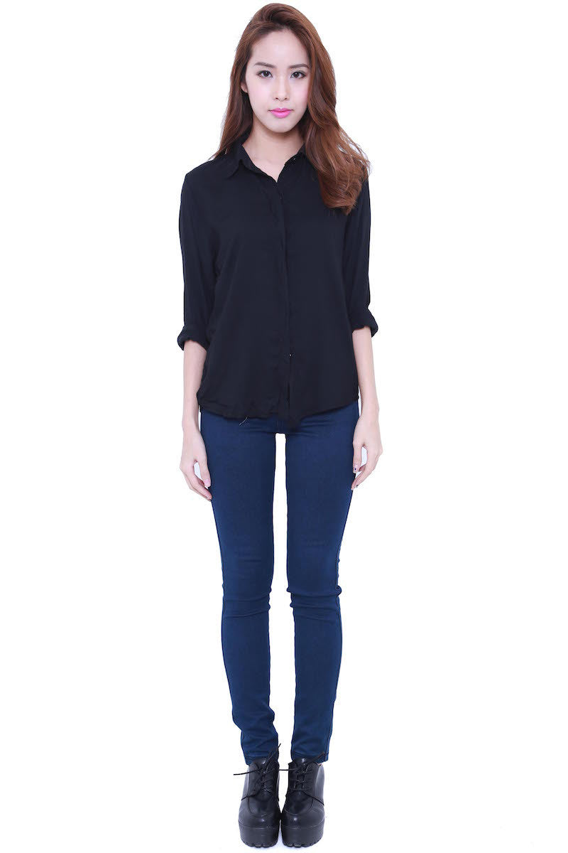Casual Shirt (Black) -  - 2