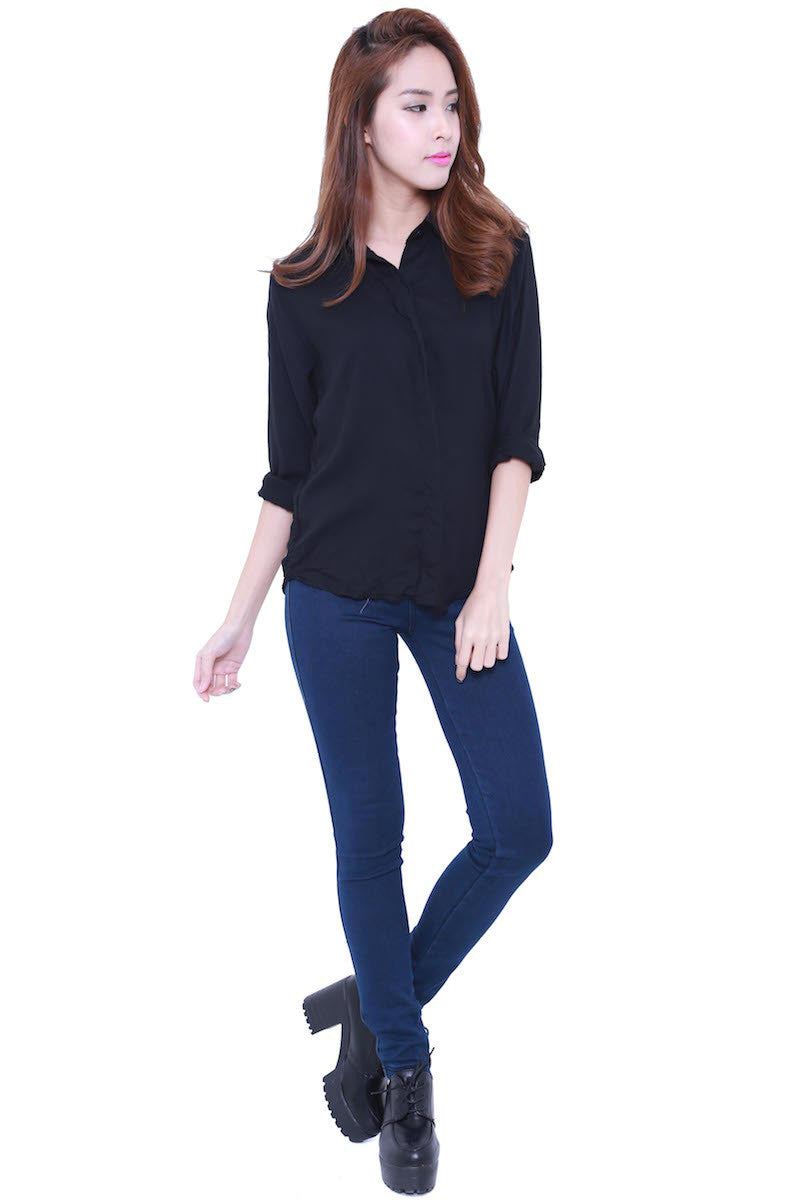 Casual Shirt (Black) -  - 3