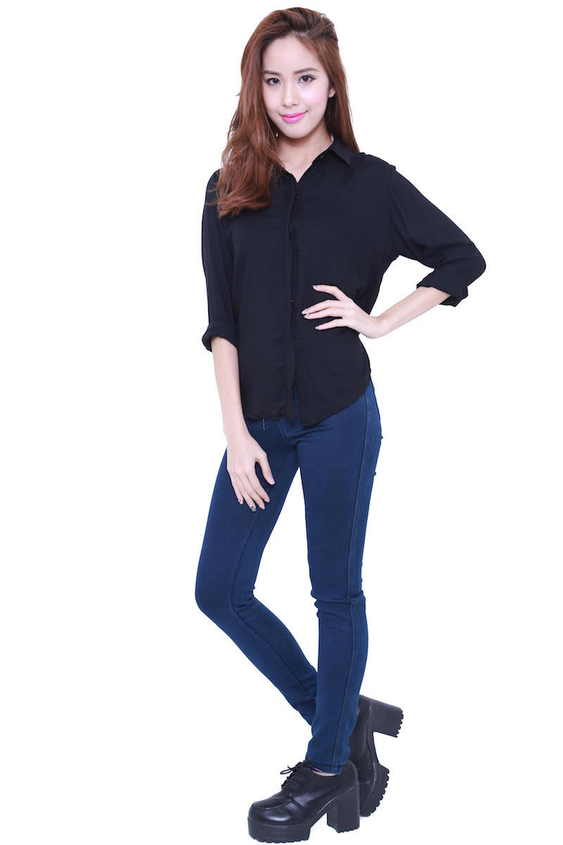 Casual Shirt (Black) -  - 4