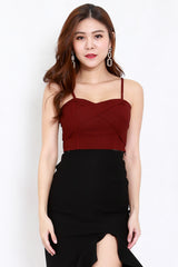 Crossover Top (Maroon)