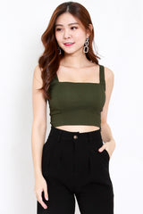 Square Neck Top (Olive)