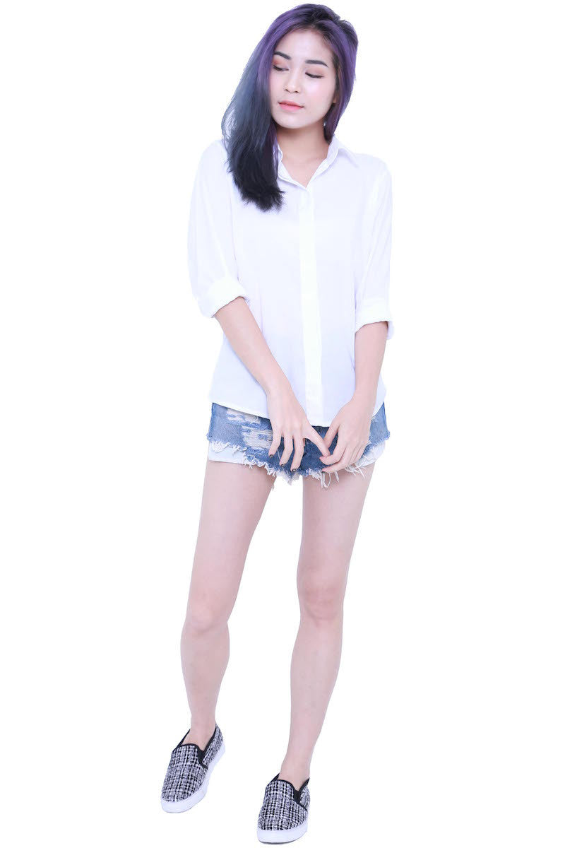 Casual Shirt (White) -  - 2