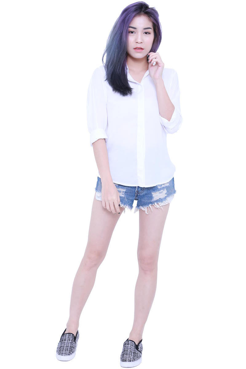 Casual Shirt (White) -  - 3