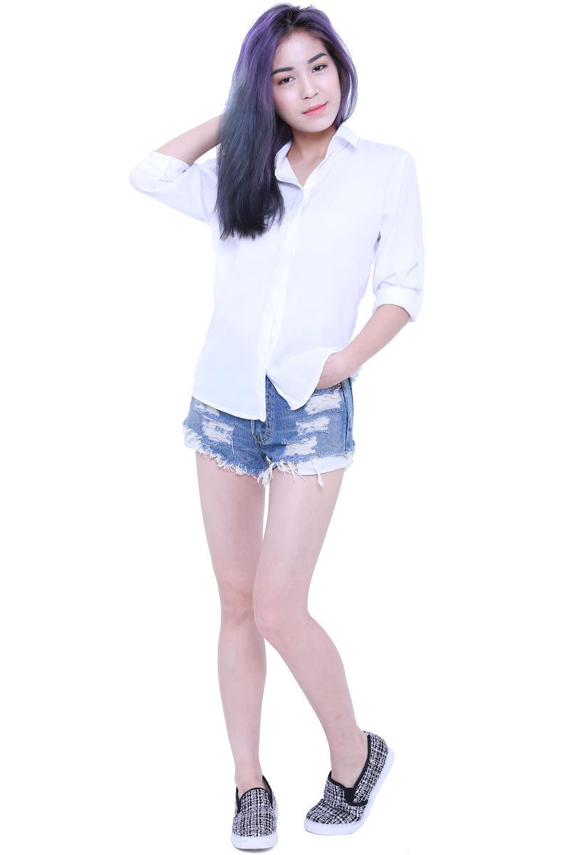 Casual Shirt (White) -  - 1