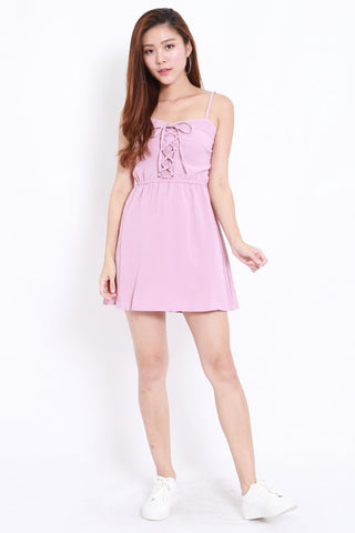 Lace Babydoll Romper Dress (Lilac)