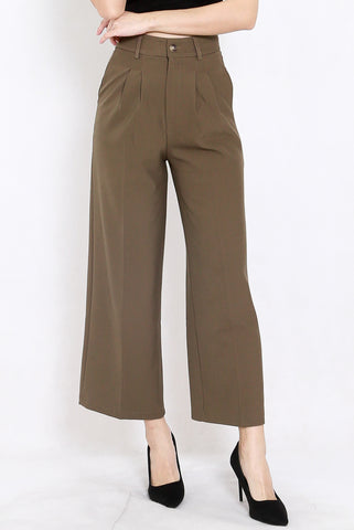 Indika Tailored Pants (Olive Brown)